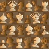 Διανυσματικό άνευ ραφής σχέδιο με το κομμάτι σκακιού Ελεύθερη απεικόνιση δικαιώματος