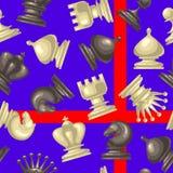 Διανυσματικό άνευ ραφής σχέδιο με το κομμάτι σκακιού Διανυσματική απεικόνιση