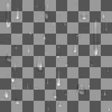 Διανυσματικό, άνευ ραφής σχέδιο - μια πτώση της βροχής σε ένα διαφανές υπόβαθρο Στοκ Εικόνες