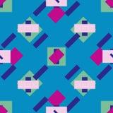 Διανυσματικό άνευ ραφής σχέδιο ορθογωνίων Στοκ φωτογραφία με δικαίωμα ελεύθερης χρήσης