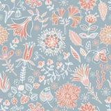 Διανυσματικό άνευ ραφής σχέδιο λουλουδιών Στοκ Φωτογραφία
