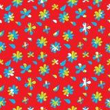 Διανυσματικό άνευ ραφής σχέδιο λουλουδιών Στοκ Εικόνα
