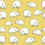 Διανυσματικό άνευ ραφής σχέδιο πολικών αρκουδών διακοπών Στοκ Φωτογραφίες