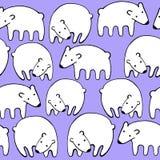 Διανυσματικό άνευ ραφής σχέδιο πολικών αρκουδών διακοπών Στοκ Εικόνα