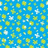 Διανυσματικό άνευ ραφής σχέδιο πτώσεων λουλουδιών Στοκ Φωτογραφία