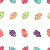 Διανυσματικό άνευ ραφής σχέδιο των ζωηρόχρωμων και περίκομψων αυγών Πάσχας Φρέσκο και σχέδιο άνοιξη για τις ευχετήριες κάρτες, κλ Στοκ εικόνες με δικαίωμα ελεύθερης χρήσης