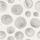 Διανυσματικό άνευ ραφής σχέδιο των κύκλων καμπυλών Στοκ Εικόνα
