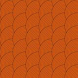 Διανυσματικό άνευ ραφής σχέδιο των κύκλων στο ύφος squama στοκ φωτογραφία