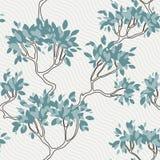 Διανυσματικό άνευ ραφής σχέδιο των κλάδων δέντρων με Στοκ εικόνα με δικαίωμα ελεύθερης χρήσης