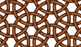 Διανυσματικό άνευ ραφής σχέδιο των συμπεπλεγμένων σκοινιών δέρματος Στοκ Εικόνα