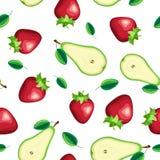 Διανυσματικό άνευ ραφής σχέδιο των φρέσκων φρούτων φετών Στοκ εικόνα με δικαίωμα ελεύθερης χρήσης