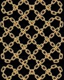Διανυσματικό άνευ ραφής σχέδιο των χρυσών αλυσίδων Στοκ Εικόνες