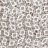 Διανυσματικό άνευ ραφής σχέδιο των hand-drawn γραμμών Στοκ Εικόνες