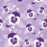 Διανυσματικό άνευ ραφής σχέδιο των pansy λουλουδιών Στοκ εικόνα με δικαίωμα ελεύθερης χρήσης