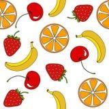 Διανυσματικό άνευ ραφής σχέδιο φρούτων Στοκ φωτογραφία με δικαίωμα ελεύθερης χρήσης