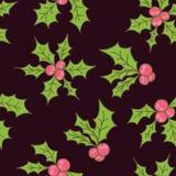 Διανυσματικό άνευ ραφής σχέδιο Χριστουγέννων ελεύθερη απεικόνιση δικαιώματος