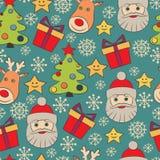 Διανυσματικό άνευ ραφής σχέδιο Χριστουγέννων Στοκ φωτογραφία με δικαίωμα ελεύθερης χρήσης