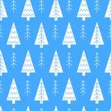 Διανυσματικό άνευ ραφής σχέδιο χριστουγεννιάτικων δέντρων Στοκ Φωτογραφίες