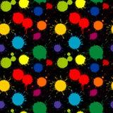 Διανυσματικό άνευ ραφής σχέδιο χρωμάτων splatter διανυσματική απεικόνιση