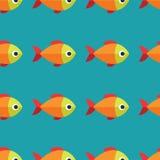 Διανυσματικό άνευ ραφής σχέδιο ψαριών Υπόβαθρο ωκεανών ή ενυδρείων Στοκ φωτογραφίες με δικαίωμα ελεύθερης χρήσης