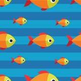 Διανυσματικό άνευ ραφής σχέδιο ψαριών Υπόβαθρο ωκεανών ή ενυδρείων Στοκ Φωτογραφίες