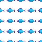 Διανυσματικό άνευ ραφής σχέδιο ψαριών Υπόβαθρο ωκεανών ή ενυδρείων Στοκ Εικόνες