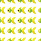 Διανυσματικό άνευ ραφής σχέδιο ψαριών Υπόβαθρο ωκεανών ή ενυδρείων Στοκ φωτογραφία με δικαίωμα ελεύθερης χρήσης