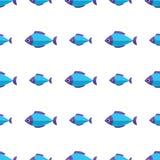 Διανυσματικό άνευ ραφής σχέδιο ψαριών Υπόβαθρο ωκεανών ή ενυδρείων Στοκ εικόνες με δικαίωμα ελεύθερης χρήσης