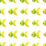 Διανυσματικό άνευ ραφής σχέδιο ψαριών Υπόβαθρο ωκεανών ή ενυδρείων Στοκ Εικόνα