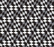 Διανυσματικό άνευ ραφής σχέδιο Illustion κύβων οπτικό Στοκ φωτογραφία με δικαίωμα ελεύθερης χρήσης