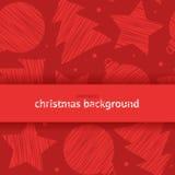 Διανυσματικό άνευ ραφής υπόβαθρο κακογραφίας με το θέμα Χριστουγέννων Ελεύθερη απεικόνιση δικαιώματος