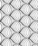 Διανυσματικό άνευ ραφής υπόβαθρο κυμάτων συρμένων των doodle γραμμών Στοκ Εικόνα
