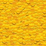 Διανυσματικό άνευ ραφής υπόβαθρο με τα χρυσά νομίσματα Στοκ Εικόνες