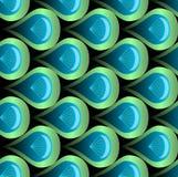 Διανυσματικό άνευ ραφής υπόβαθρο με τις μορφές κλίμακας στην μπλε και πράσινη κλίση στο μαύρο υπόβαθρο ελεύθερη απεικόνιση δικαιώματος