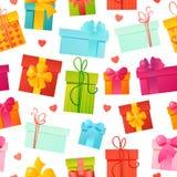 Διανυσματικό άνευ ραφής υπόβαθρο δώρων σχεδίων διανυσματική απεικόνιση