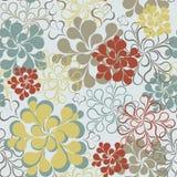 Διανυσματικό άνευ ραφής floral αναδρομικό υπόβαθρο Στοκ εικόνα με δικαίωμα ελεύθερης χρήσης