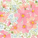 Διανυσματικό άνευ ραφής floral ρομαντικό σχέδιο Στοκ εικόνα με δικαίωμα ελεύθερης χρήσης