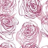 Διανυσματικό άνευ ραφής floral σχέδιο με τα τριαντάφυλλα Στοκ Εικόνες