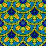 Διανυσματικό άνευ ραφής Floral σχέδιο Mandala Στοκ εικόνες με δικαίωμα ελεύθερης χρήσης
