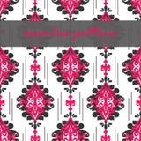 Διανυσματικό άνευ ραφής floral damask σχέδιο για τη γαμήλια πρόσκληση ή το εκλεκτής ποιότητας αφηρημένο υπόβαθρο ελεύθερη απεικόνιση δικαιώματος