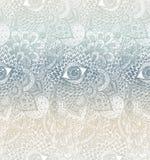 Διανυσματικό άνευ ραφής Handdrawn υπόβαθρο Mandala Στοκ Εικόνα