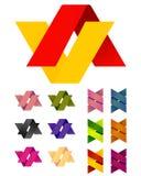 Διανυσματικό άπειρο διαγώνιο πρότυπο λογότυπων κορδελλών σχεδίου Στοκ φωτογραφία με δικαίωμα ελεύθερης χρήσης