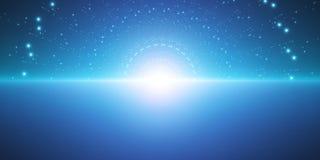 Διανυσματικό άπειρο διαστημικό υπόβαθρο Μήτρα των καμμένος αστεριών με την παραίσθηση του βάθους και της προοπτικής απεικόνιση αποθεμάτων