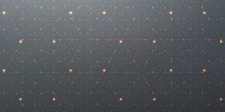 Διανυσματικό άπειρο διαστημικό υπόβαθρο Μήτρα των καμμένος αστεριών με την παραίσθηση του βάθους, προοπτική ελεύθερη απεικόνιση δικαιώματος