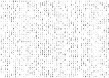 Διανυσματικό άσπρο άνευ ραφής υπόβαθρο δυαδικού κώδικα Μεγάλη χάραξη στοιχείων και προγραμματισμού, αποκρυπτογράφηση και κρυπτογρ ελεύθερη απεικόνιση δικαιώματος