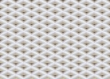 Διανυσματικό άσπρο αποτυπωμένο σε ανάγλυφο άνευ ραφής υπόβαθρο πλέγματος σχεδίων πλαστικό με το χρυσό στοιχείο ενθέτων Σύσταση κυ Στοκ Εικόνα