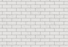 Διανυσματικό άσπρο σχέδιο τουβλότοιχος Ρεαλιστικό ελαφρύ υπόβαθρο τουβλότοιχος Στοκ Φωτογραφίες