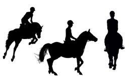 Διανυσματικό άτομο στην πλάτη αλόγου Στοκ Εικόνες