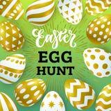 Διανυσματικό έμβλημα κυνηγιού αυγών Easer απεικόνισης απεικόνιση αποθεμάτων