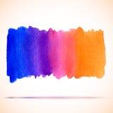 Διανυσματικό έμβλημα κλίσης ουράνιων τόξων watercolor με τη σκιά Στοκ Εικόνες